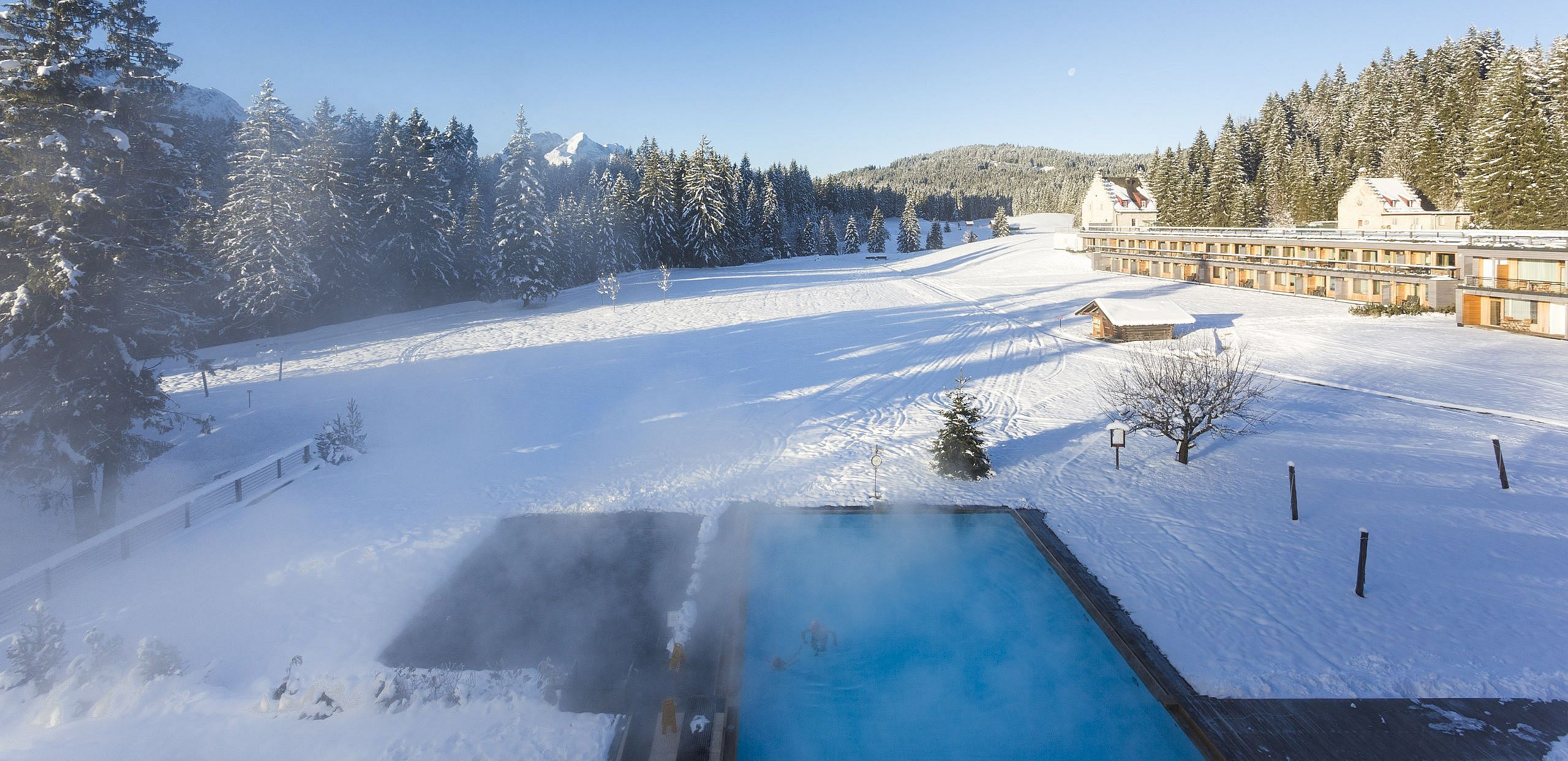 Das Spa und Wellnessrefugium Kranzbach im Winter
